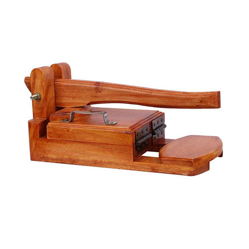 Wooden Roti Maker Standard Size 9 Inch with Both Side Gum Tape and Food Grade Wrapping Poly Roll