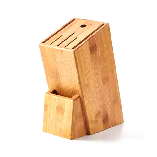 Wooden Knife Holder Block Scissor Slot Storage Rack