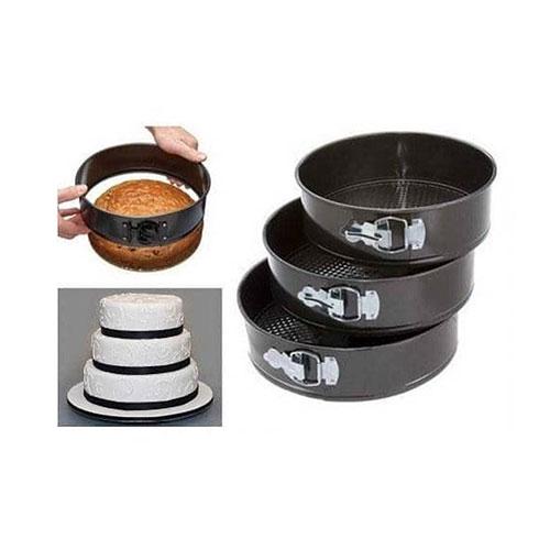 Non-Stick Metal Baking Pans 3Pcs Set