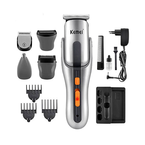 Kemei KM-680A 8 in 1 Rechargeable Hair Trimmers Shavers
